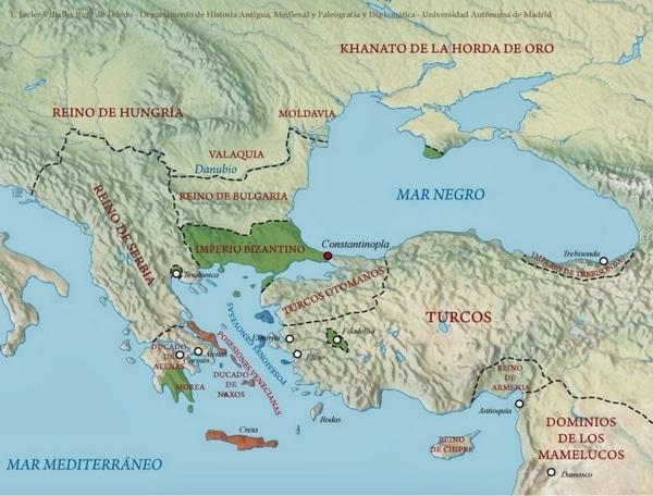 Mapa Bizancio